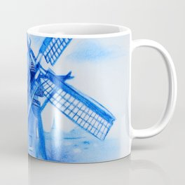 Drawing Delft-Style Windmill Coffee Mug
