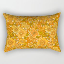 Flower power orange Rectangular Pillow