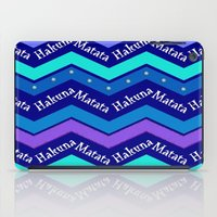 hakuna iPad Cases featuring Hakuna Matata by Stay Inspired