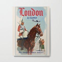 Vintage travel advertising poster-London. Metal Print