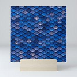 Blue Penny Scales Mini Art Print