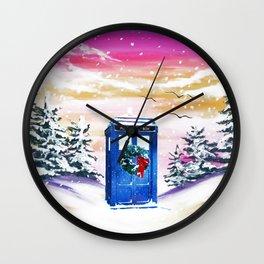 Tardis Frozen Wall Clock