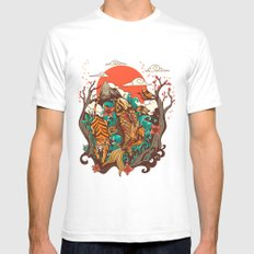autumn sunset White Mens Fitted Tee SMALL