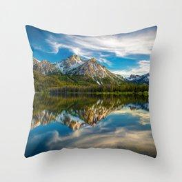 Sawtooth Range Morning Reflection Throw Pillow