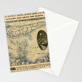Map Of Lake Erie 1876 Stationery Cards