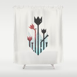 Space Tulips Shower Curtain