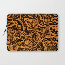 modern scramble, black and orange Laptop Sleeve