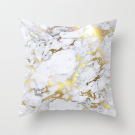 Original Gold Marble Throw Pillow