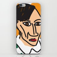 pablo picasso iPhone & iPod Skins featuring Picasso by John Sailor