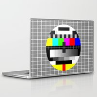 tv Laptop & iPad Skins featuring TV by Les Hameçons Cibles