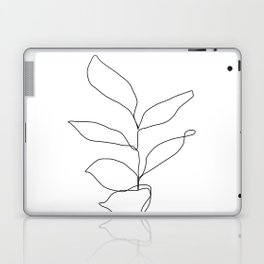 Plant one line drawing illustration - Kay Laptop & iPad Skin