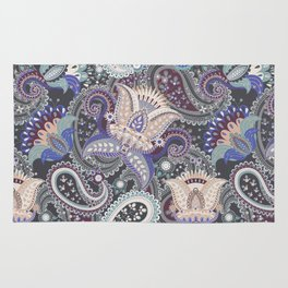 Boho Paisley Floral Pattern 3 Rug