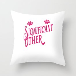 My Significant Other Has a Tail export 01 Throw Pillow