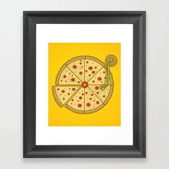 Pizza Vinyl Framed Art Print