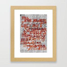 The Prisoners Framed Art Print