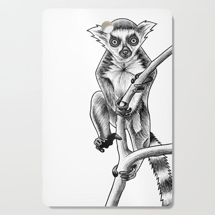 Ink Illustration Cutting Board By