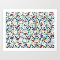 splatter Art Prints featuring Splatter by Regan McDonell Design