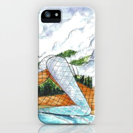 PNW Fishnets - Earth and Sky Goddess Kiss Painting iPhone Case