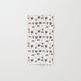 Coffee Cups Hand & Bath Towel