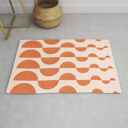 Abstraction_ROUND_WAVES_Minimalism_001 Rug