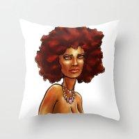 eevee Throw Pillows featuring Eevee by DANIELIN3D