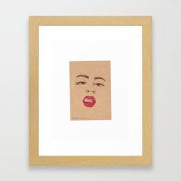 Eyes, Nose, Lips Framed Art Print
