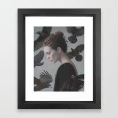 Siete cuervos Framed Art Print