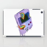 gameboy iPad Cases featuring Gameboy Melt by KING BOZU