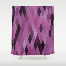Muted Berry Color Harlequin Pattern Shower Curtain