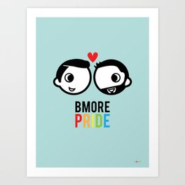Bmore Pride - Men Art Print