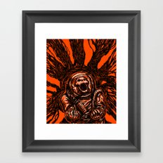 A Spacesuit Has Been Compromised Framed Art Print
