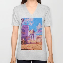 Columbia - The City in the Sky Unisex V-Neck