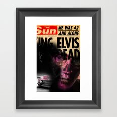 ELVIS'S IS DEAD Framed Art Print