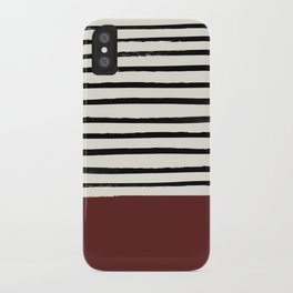 Dark Ruby & Stripes iPhone Case