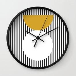 Mid Century Yellow Wall Clock