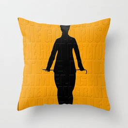 Graphic Chaplin Throw Pillow
