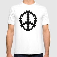 Peace 2049 Mens Fitted Tee White SMALL