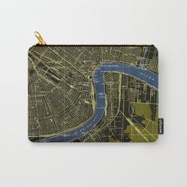 06-New Orleans Louisiana 1932, old colorful map Carry-All Pouch