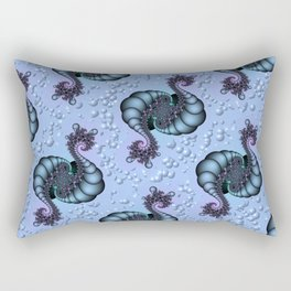 Sea Creature Fractal Rectangular Pillow