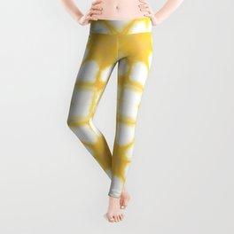 Shibori Ahi Yellow Leggings