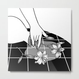 Come Out Wet Ⅱ : You ruined my vase Metal Print