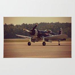Air Craft - WWII-era fighter, Corsair Rug