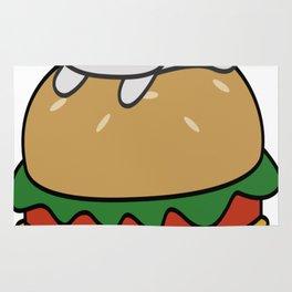 Cute-Hamburger-Cat-T-Shirt Rug