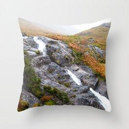 Highland Waterfall Throw Pillow