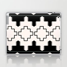 Rustic Native Indian black and white pattern Laptop & iPad Skin