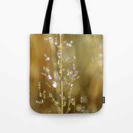 Dew on grass Tote Bag