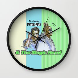The Amazing Psych-Man & The Magic-Head - Psych quotes Wall Clock