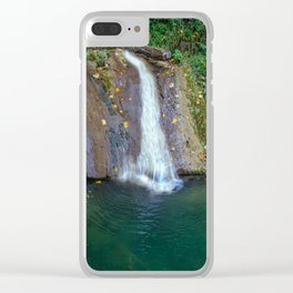 Autumn leaves in the waterfall Clear iPhone Case