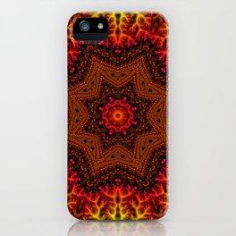 Fiery Fractal Mandala 2 iPhone Case