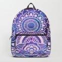 Galaxy Mandala Purple Lavender Blue by vintageby2sweet